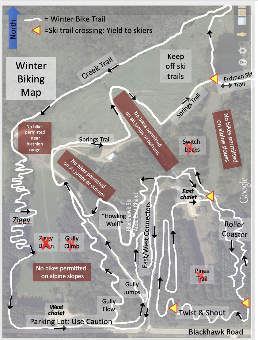 Winter Fat Bike Trail Map