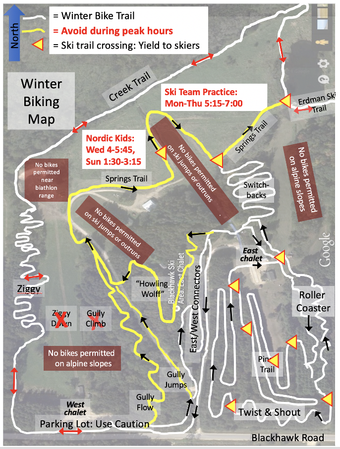 Winter Fat Bike Trail Map (REVISED 1/29/2021)