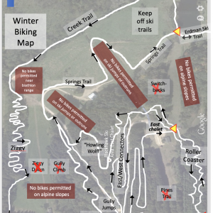 Winter Fat Bike Trail Map