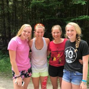 BNST skiers with Jessie Diggins, US Olympic gold medalist